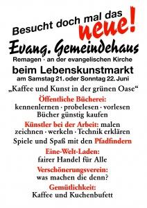 Plakat Lebenskunstmarkt